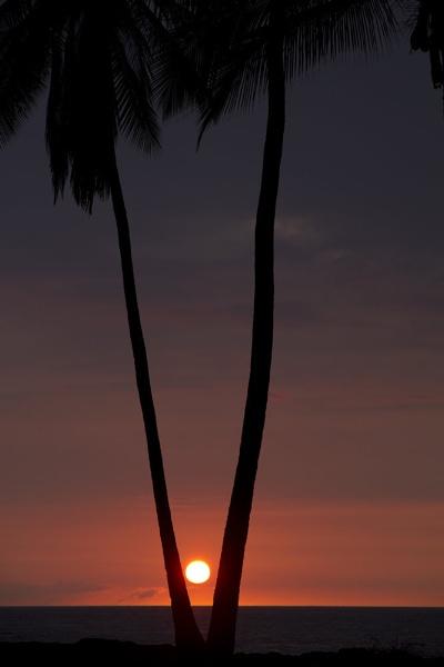 Sun setting in Hawaii by PieterDePauw