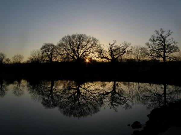 Sunset over Boddington by CarolAnnPhotos