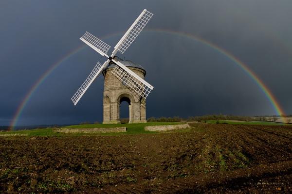 Chesterton windmill & Rainbow 2012 by heliflyer