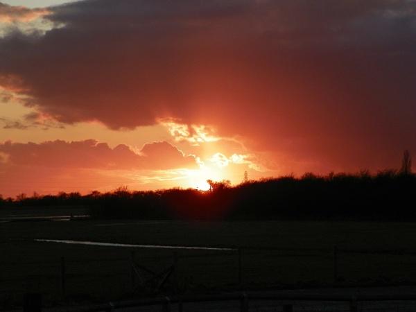 Marshland sunset by CherWass
