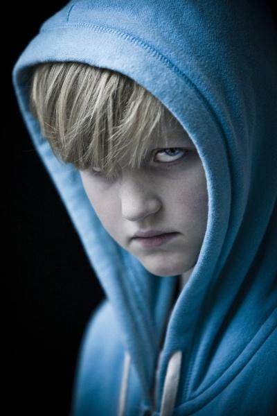 Blue eyed boy feeling blue by sarahlkruger