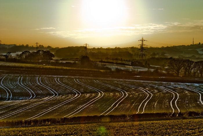 Snowy Tractor tracks