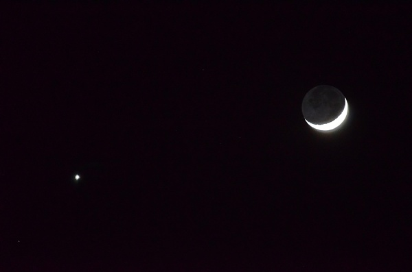 The Moon with Venus beside it by greenie