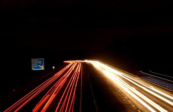 motorway lights by Sam41