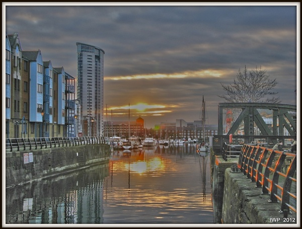 Sunset  -  Swansea Maritime Quarter by IanPeacock