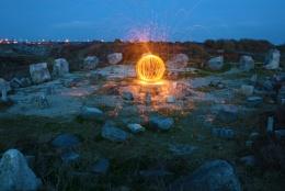 The sculptured globe