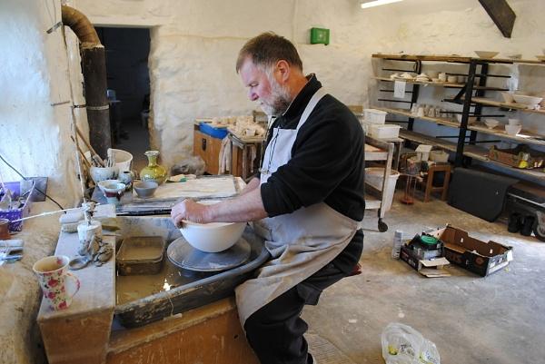Craftsman in his studio by Pengarnedd
