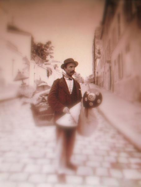 """Rue Lepic, 1889  (ATGET, \""""DA\"""") by LexEquine"""
