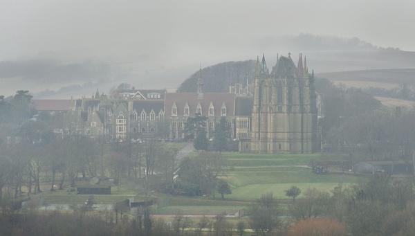 Foggy College by paddyman
