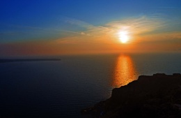 Beautiful Sunset in Santorini