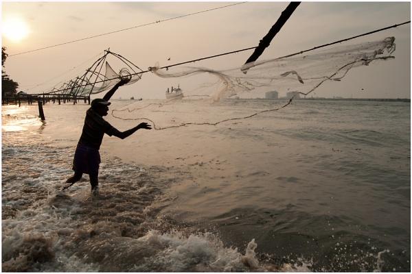 Fisherman, Kochi by watsonle
