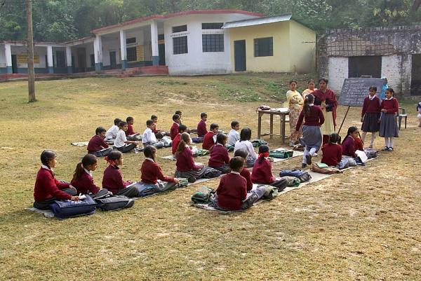 Village School Near Barog, India by TonyDy