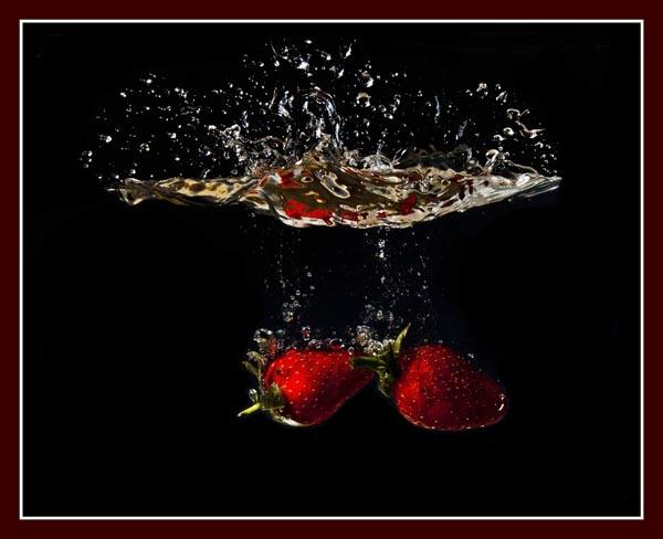 Strawberry Splash by dabhandphotographics