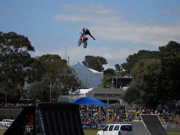 Stunt riders at Perth Royal Show, WA, 2011 by hammers3417