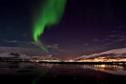Aurora borealis, Kvaløya, near Tromsø, Norway. Mars 2012.