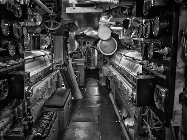 WWII USS Drum engine room by jbsaladino