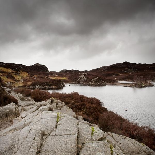 A bleak and cold Dock Tarn, Borrowdale, Cumbria by Esge