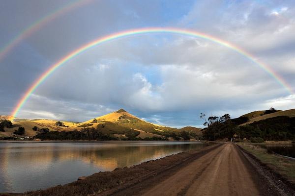 Double rainbow over the Otago Peninsula by Phil_Bird