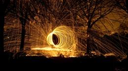 Flaming trees
