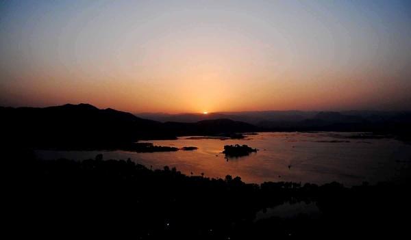 sunset at Rajasthan by manashi