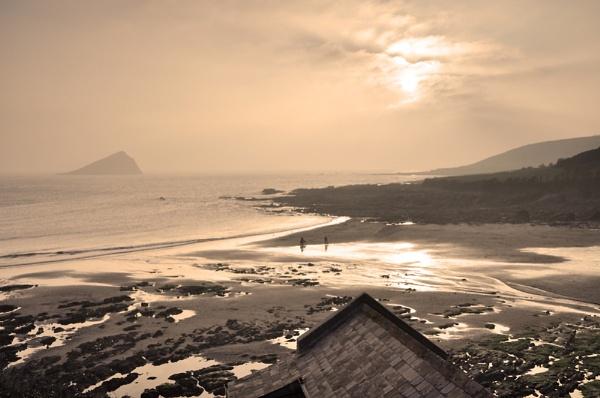 Misty Wembury Beach by andybirdphoto
