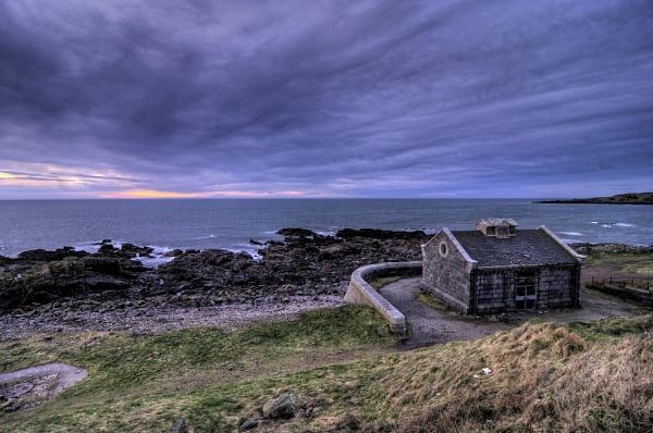 Lonely Stone Hut on the coast of Scotland by spb