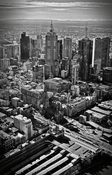 Melbourne CBD by jnrmclean