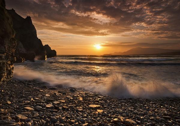 Keel Strand at Sunset by garymcparland