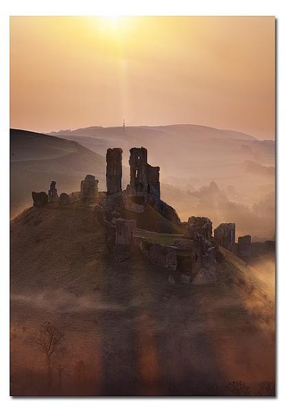 Corfe Castle sunrise no2 by Guy_Rogers