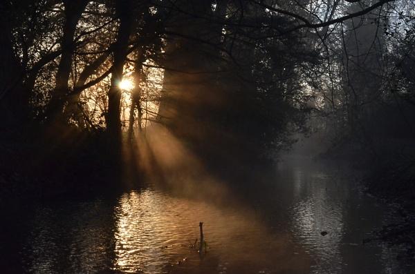 Sunrise on the river. by JoshReptiles