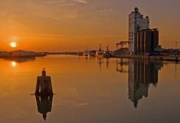 Sunset, Lake Lothing, Lowestoft