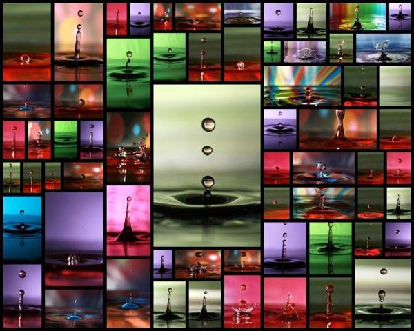 waterdrops collage by irishdomo1