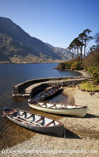 Doo Lough Boats by irishman