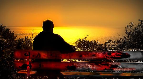 Waiting for perfect Sunset Point Bonita San Francisco by saaclick