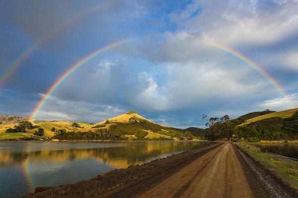 Rainbows over the Otago Peninsular by Phil_Bird
