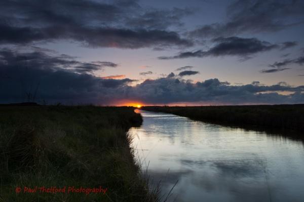 Stormy Sunset by PaulThetfordPhotography