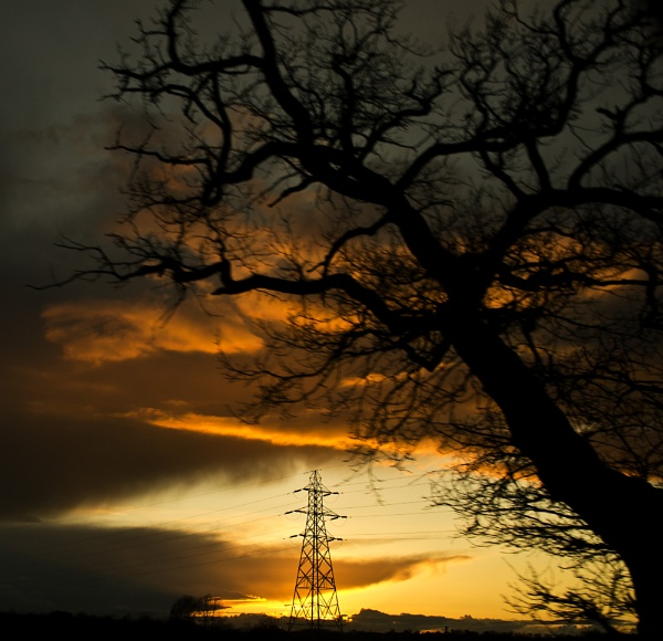 Sunset Pylon by TraceyPaper