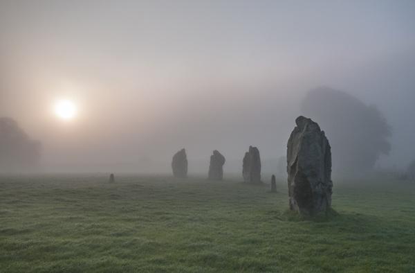 Avebury In The Mist by rogerbryan