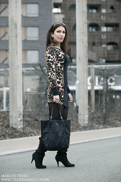 Girl with bag by TRUEX