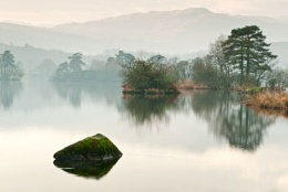 Rydal Water in the Mist