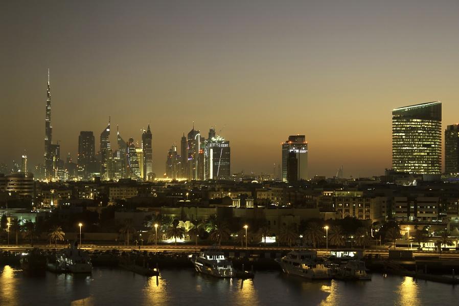 Dubai Skyline, showing the Burj Khalifa