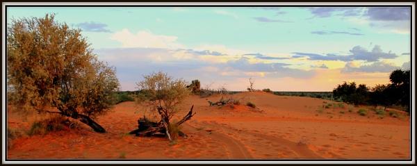 Kalahari sunset by Elsabe