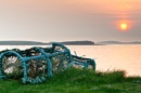 Lobster Pots at Sunset by irishman