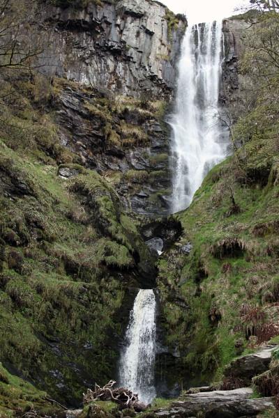 Pistyll Rhaeadr Waterfall North Wales by lostnspace2011