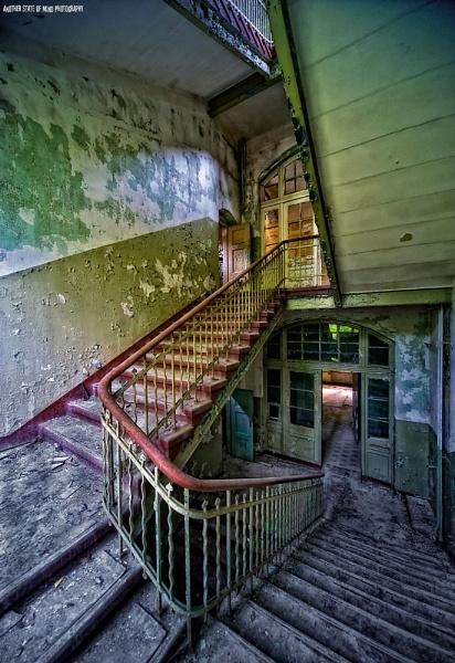 Sanatorium Stairwell by edsephiroth