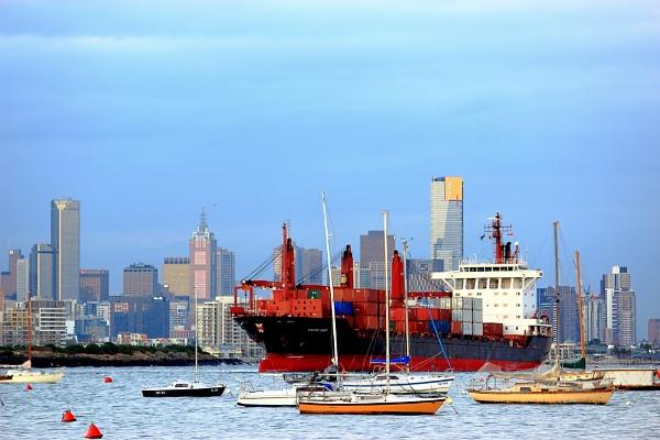 Melbourne Shipping Lane by danmclean