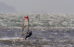 Springtime windsurfing