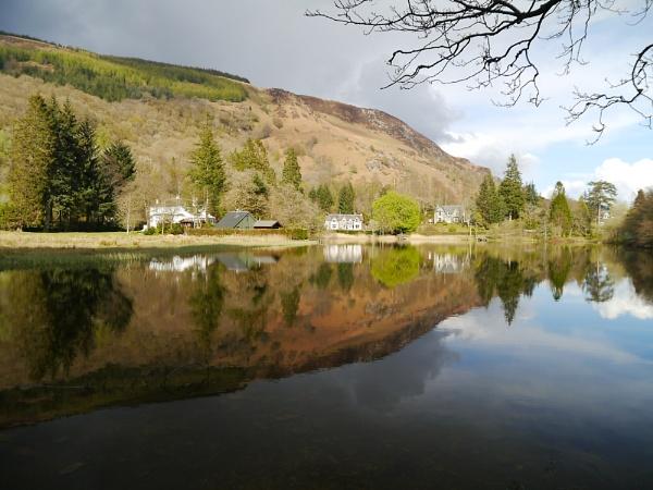 Reflections on Loch Ard by Artgecko