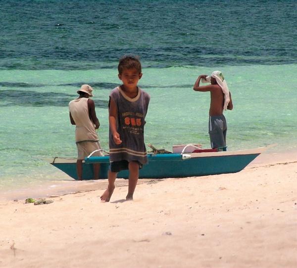 Beach boy, Camotes Island by Hamlin