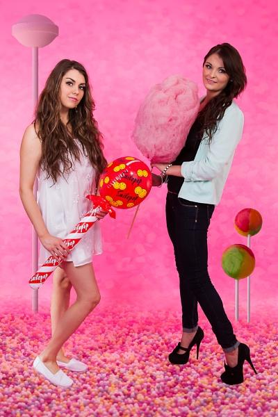 Amber & Jade in Candyland by JackAllTog